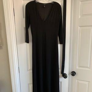 Forever 21 Black Midi Dress